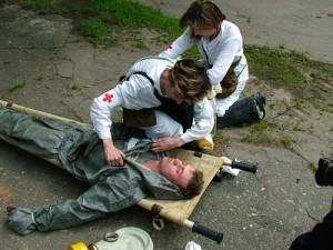 Первая медицинская помощь пострадавшему от хлора